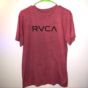 Men's RVCA Large Red Short Sleeve